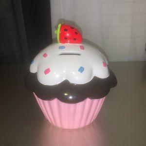 Cute cupcake piggy bank